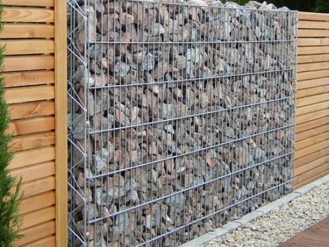 Строительство стен из габионов
