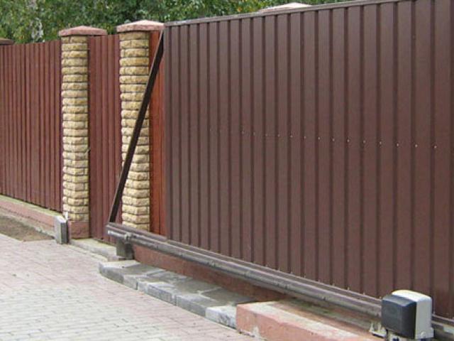 Металлоконструкции, откатные ворота
